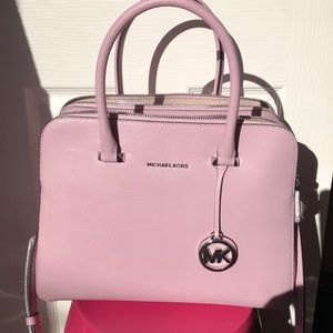 "Michael Kors ""HOUSTON"" Pale Lilac Leather satchel"